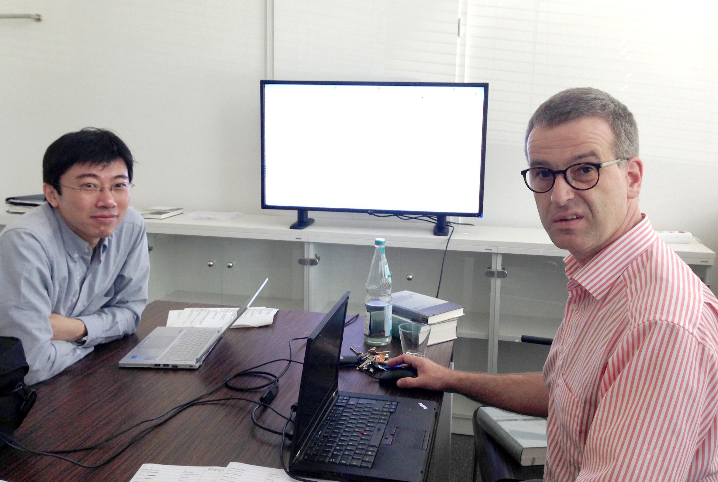 Cai Dapeng and Carsten Dose