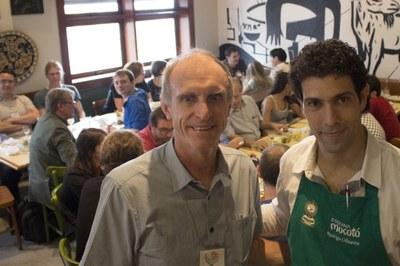 Martin Grossmann and Rodrigo Oliveira - Lunch at Mocotó restaurant, Scientific & cultural tour: peripheries <> centralities - April 19, 2015