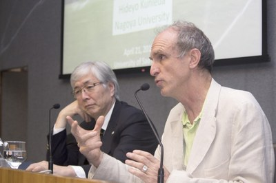 Martin Grossmann introducing Hideyo Kunieda's talk - April 21, 2015