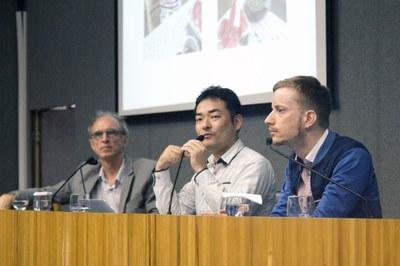 Norihito Nakamichi and Boris Roman Gibhardt introducing themselves - April 22, 2015